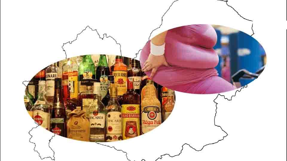 Molise, alcol e obesità