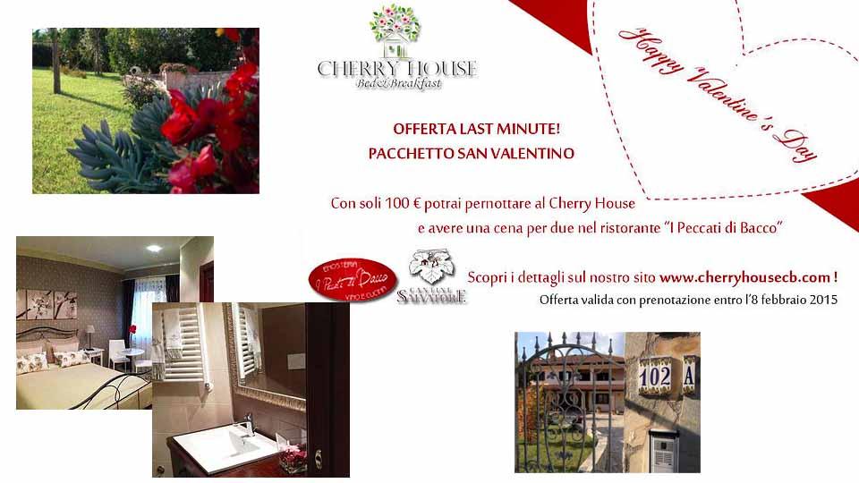 TRASCORRI IL TUO SAN VALENTINO AL CHERRY HOUSE B&B