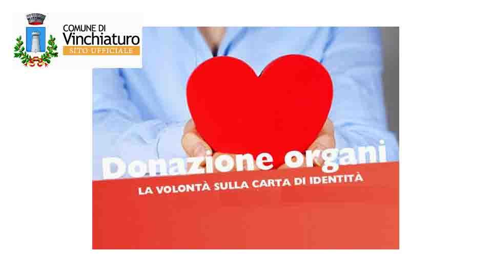 CARTA D'IDENTITA' PER LA DONAZIONE D'ORGANI, VINCHIATURO C'E'