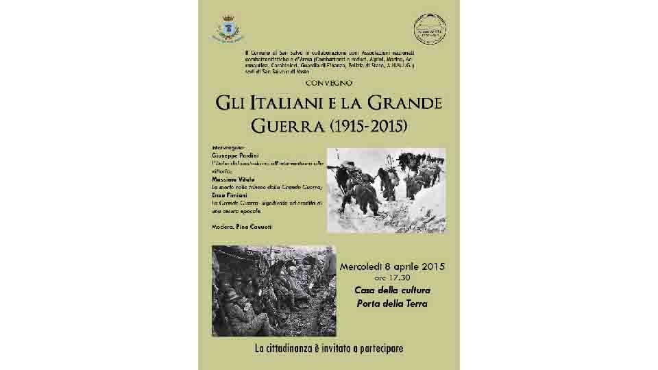 GLI ITALIANI E LA GRANDE GUERRA, TAVOLA ROTONDA