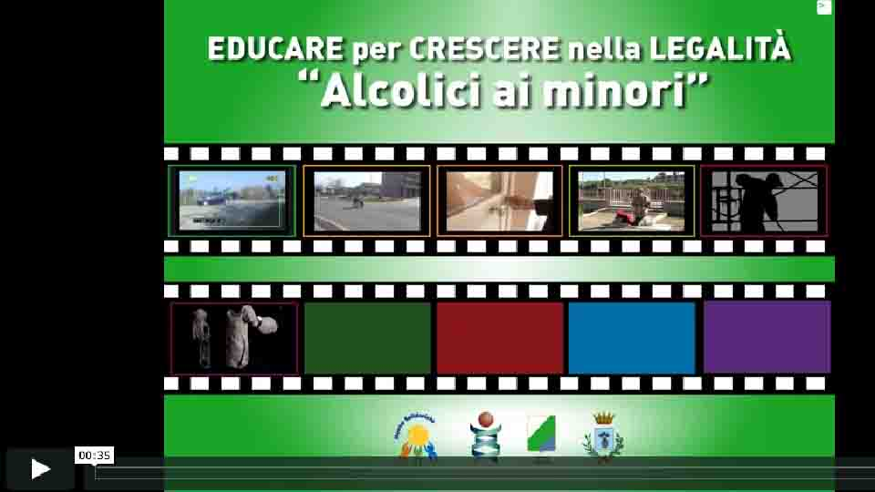 NO ALL'ALCOL AI MINORI, UN VIDEO-DENUNCIA