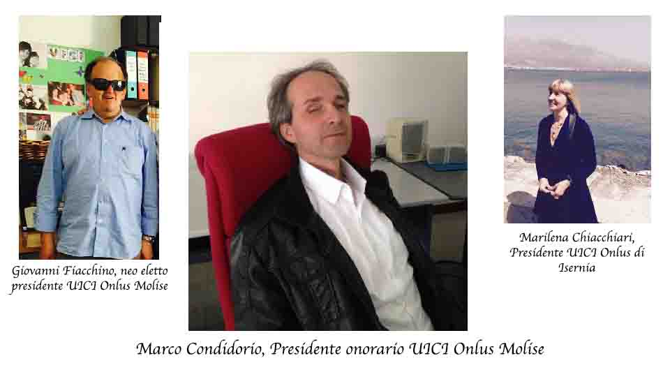 UNIONE ITALIANA CIECHI, CAMBIO DELLA GUARDIA. CONDIDORIO LASCIA