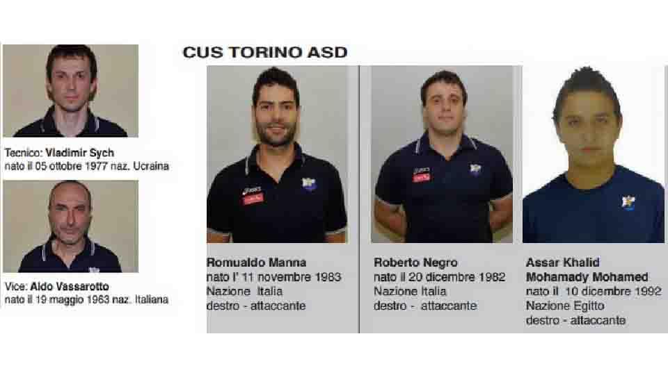 ROMUALDO MANNA E IL CUS TORINO VINCONO IL TRICOLORE 2014/2015