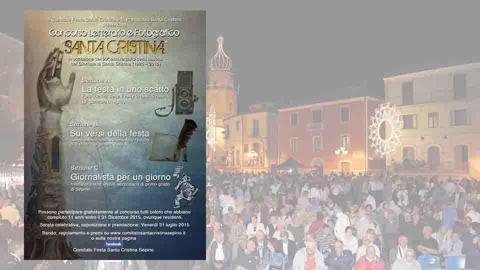 """CONCORSO LETTERARIO E FOTOGRAFICO """"Santa Cristina"""""""