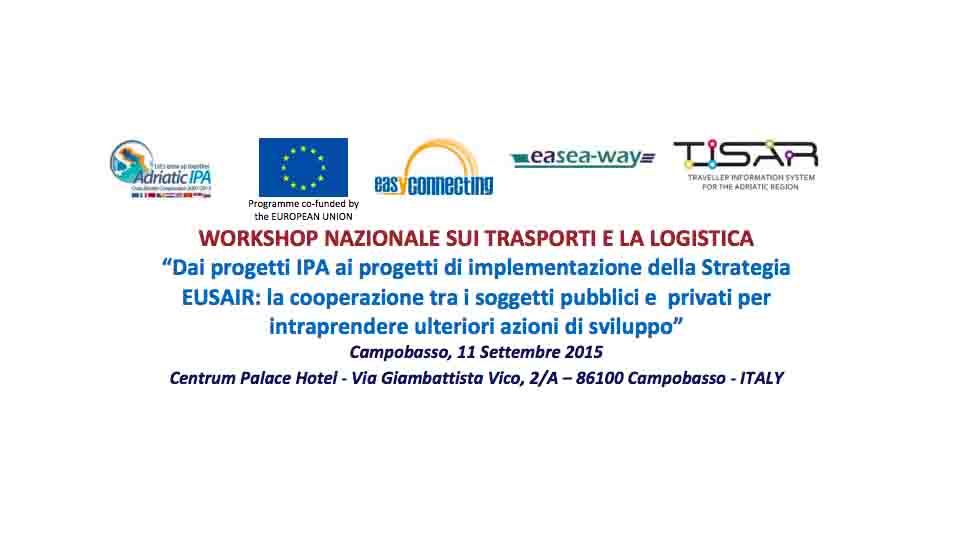 LOGISTICA E TRASPORTI, WORKSHOP A CAMPOBASSO