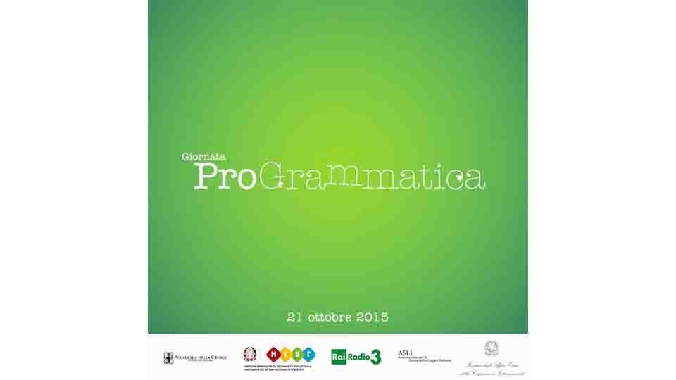 """""""PRO-GRAMMATICA"""", CONCORSO E INIZIATIVA"""
