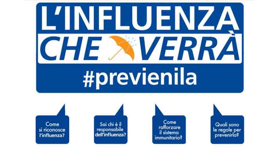 L'INFLUENZA CHE VERRÀ, #PREVIENILA