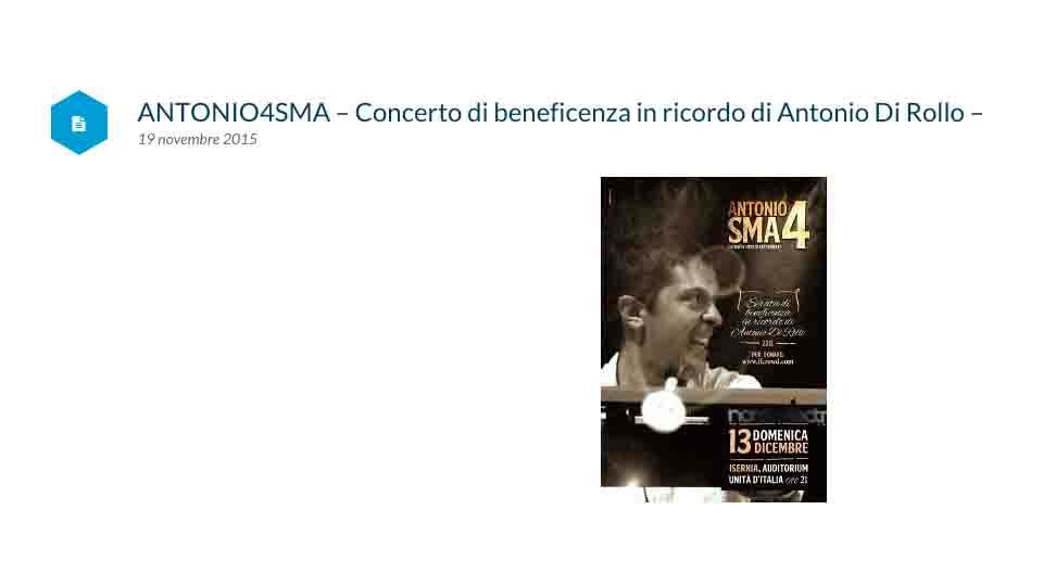 ISERNIA RICORDA IN MUSICA ANTONIO DI ROLLO