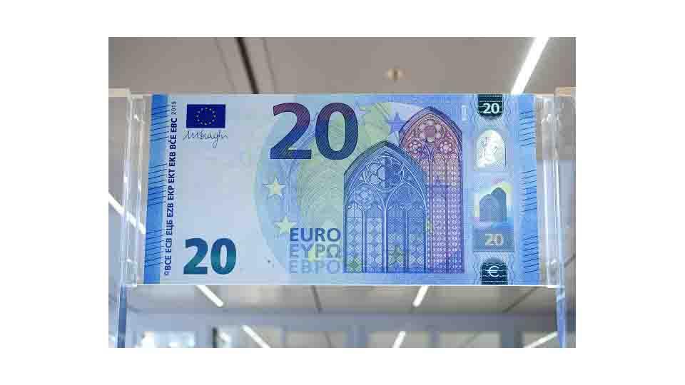 NUOVA BANCOTA DA VENTI EURO, PIU' COLORI E MENO FALSI