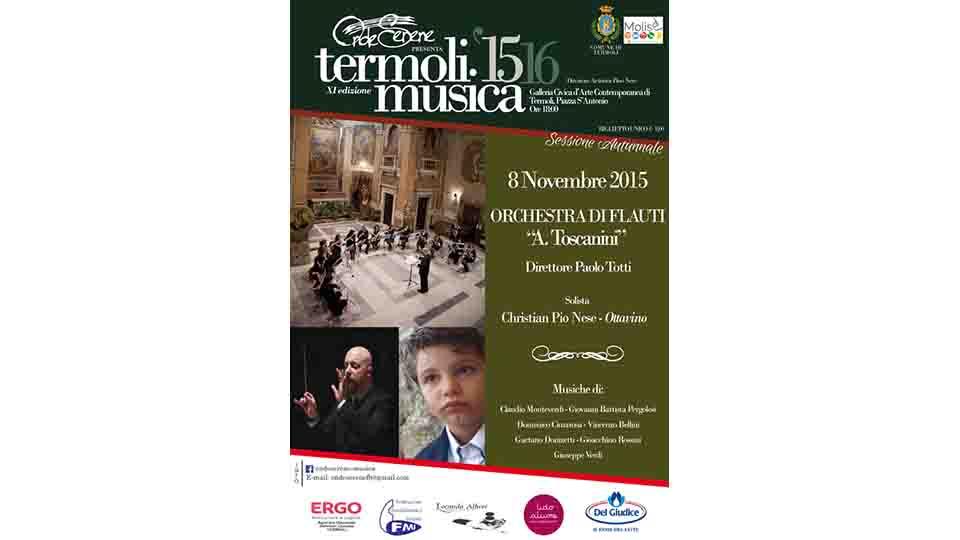 TERMOLI MUSICA PROSEGUE CON L'ORCHESTRA DI FLAUTI