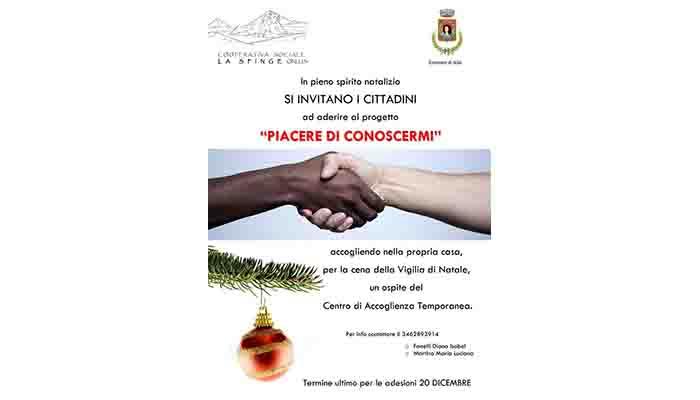 """""""PIACERE DI CONOSCERMI"""", INVITALO ALLA TUA TAVOLA DI NATALE"""