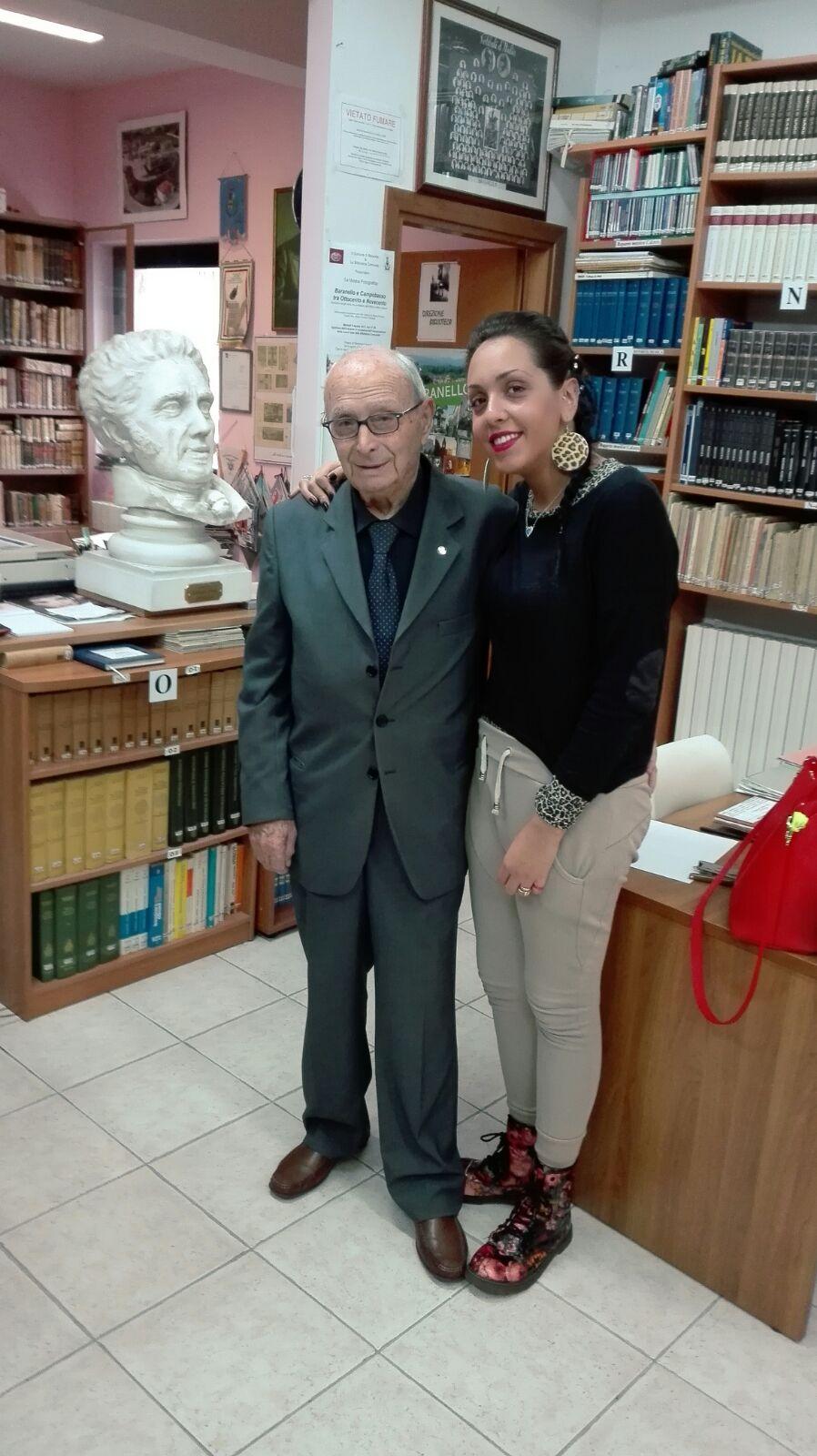 Claudio Niro e Chiara, la tirocinante che lo sta aiutando