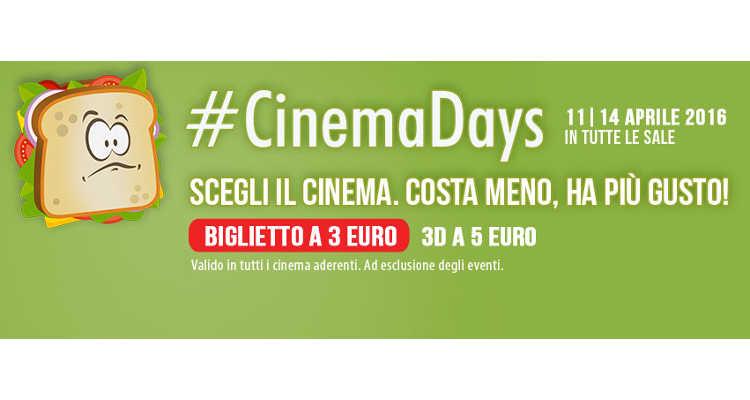 CINEMADAYS, SCOPRI LA SALA PIÙ VICINA A TE