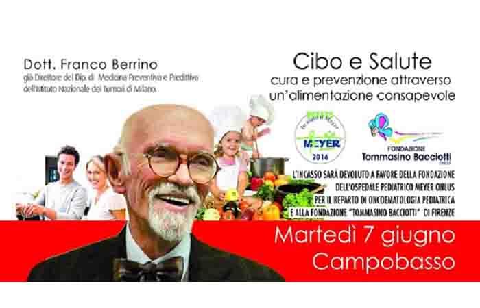 CIBO E PREVENZIONE, EVENTO BENEFICO AL CORIOLIS