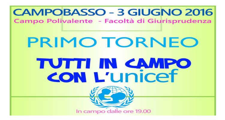 TORNEO UNICEF, UNA PARTITA PER I BAMBINI