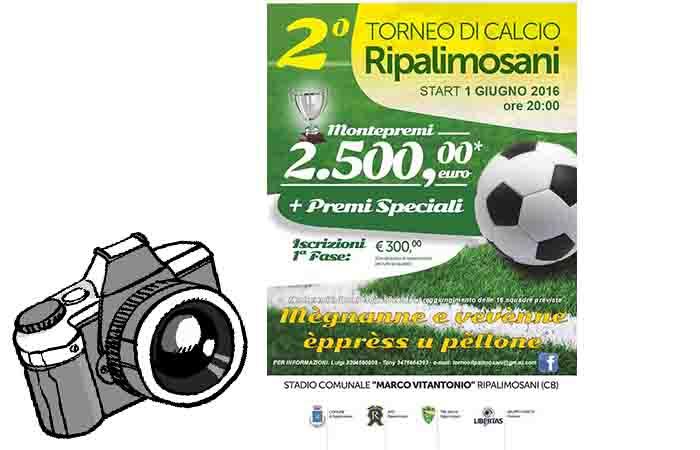 2° TORNEO RIPALIMOSANI: BUON CALCIO E CONTEST FOTOGRAFICO