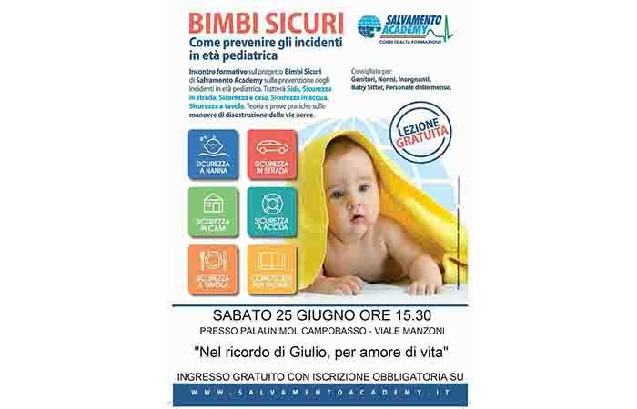 BIMBI SICURI, INCONTRO INFORMATIVO AL CUS MOLISE