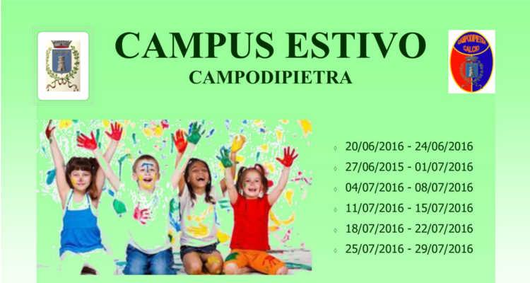 CAMPODIPIETRA, CAMPUS ESTIVO DEL COMUNE AL VIA