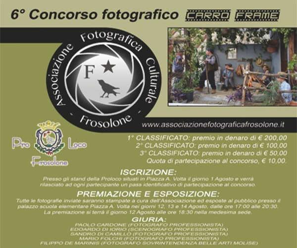 Carro Frame, concorso fotografico a frosolone