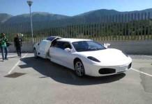 Fuori Ferrari, dentro utilitaria...e non é una burla