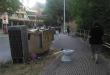 Arredo urbano stravagante sul percorso salute a Ferrazzano