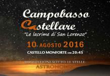 Castello Monforte sotto una pioggia di stelle tra scienza e poesia