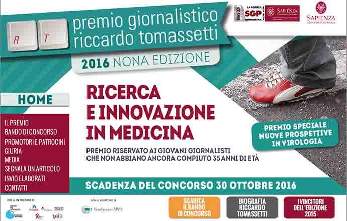 Giornalismo scientifico, via alla IX edixzione del Premio Tomassetti