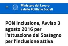 Inclusione attiva, bando per gli Ambiti Territoriali
