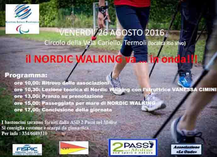 Termoli, la Nordic Walking si sposta in mare