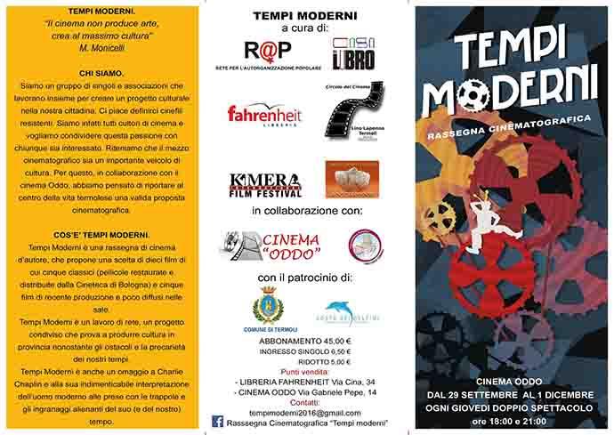 """""""Tempi moderni"""", il cinema d'autore a Termoli"""