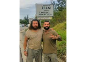 Martin Castrogiovanni e Alessio Sakara, due campioni a Jelsi