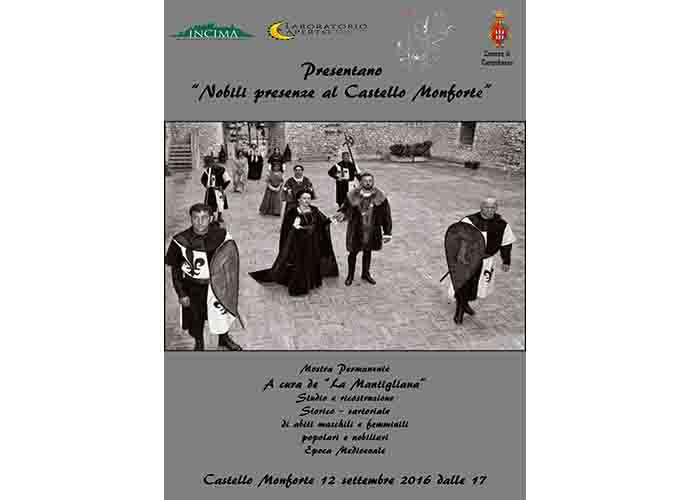 Nobili presenze al Castello Monforte, una mostra permanente