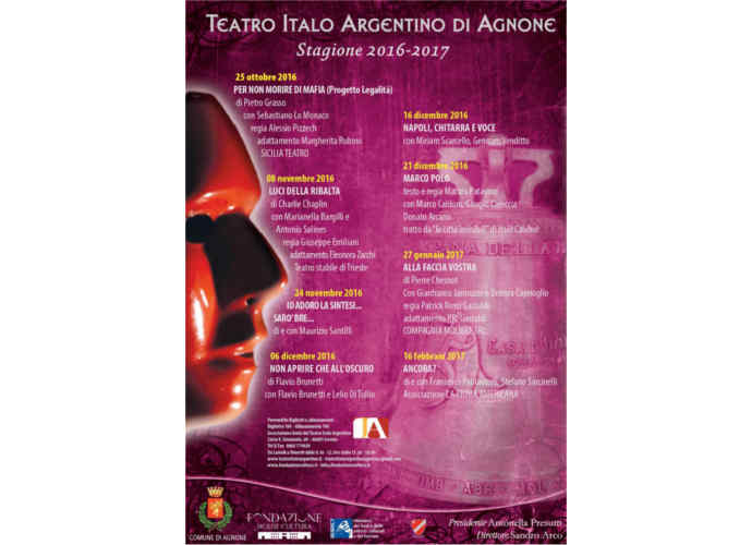 Agnone, il Teatro Italo Argentino presenta la nuova stagione
