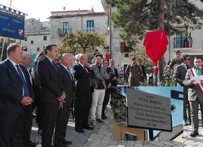 Attilio Brunetti, eroe di pace per Oratino e per tutti. Video