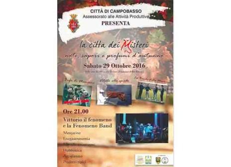 Banda della Masciona, bufù e gastronomia per la Campobasso d'autunno