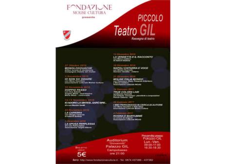 Campobasso, al Piccolo Teatro Gil in scena il teatro molisano