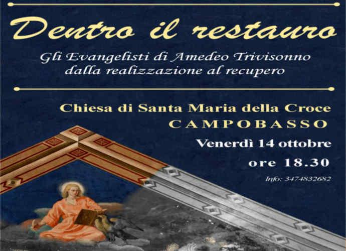 Capire e vivere l'arte del restauro, evento a Campobasso su Amedeo Trivisonno