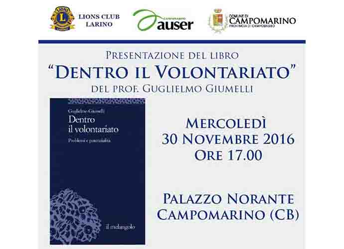 Dentro il Volontariato, a Campomarino il libro di Guglielmo Giumelli