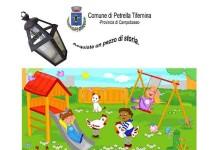 Petrella, vecchie lanterne in vendita per abbellire il parco giochi