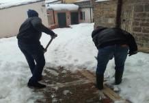Campobasso migranti pulizia neve centro storico