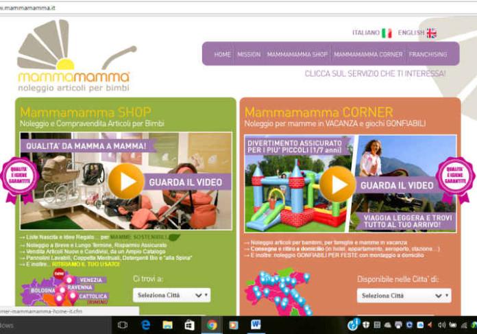 Mammamamma homepage