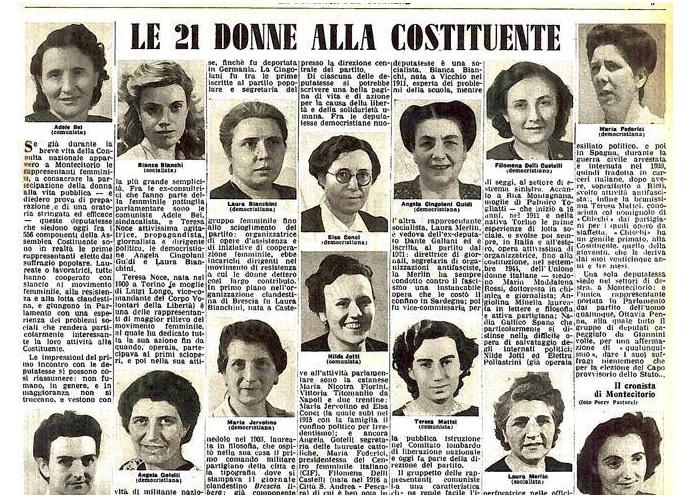 donne costituzione