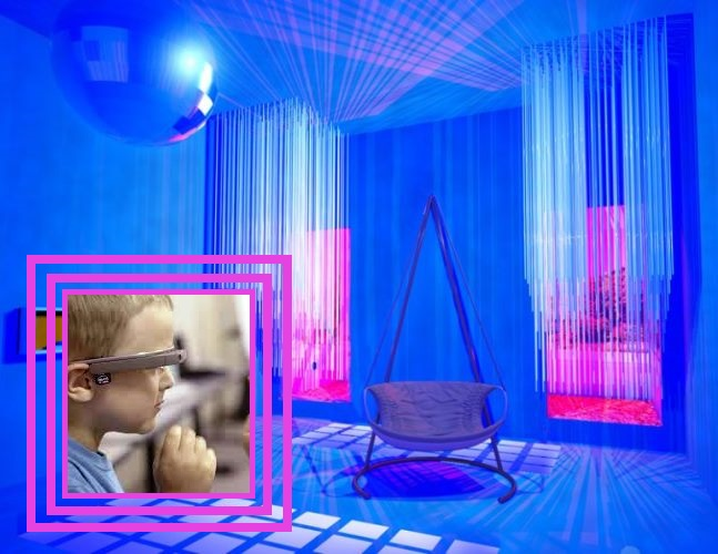 stanza bianca occhiali autismo