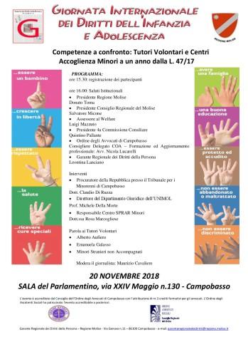 Giornata Internazionale dei Diritti dell'Infanzia e Adolescenza - Campobasso