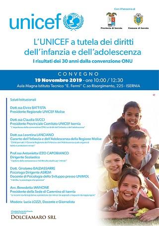 Unicef a tutela dei Diritti dell'infanzia e dell'adolescenza - convegno Isernia